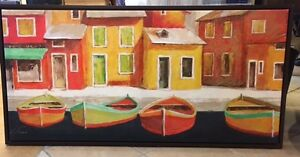 Framed Boat Painting