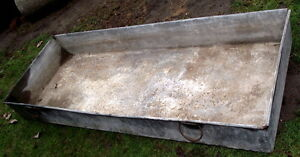 old sap boiling pan 18 ft X 21 1/2 in X 8in. Also some spiles London Ontario image 1