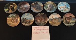 10 COLLECTOR PLATES LAST OF THEIR KIND - complete set REDUCED