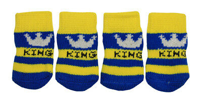 King & Crown Design Anti-Slip Dog Socks for Clean & Comfy Paws - Pets Puppy 4pcs