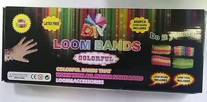 NEW DIY LOOM KIT SET WITH S CLIPS AND 600 RAINBOW COLORS RUBBER BANDS
