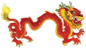 *Large 6' foot Asian JOINTED DRAGON Wall Decoration*Chinese New Year*World Party
