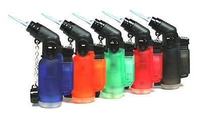 4 PACK Angle Jet Torch Lighters Cigarette Cigar Refillable Butane Windproof 4 Pc - Bulk Lighters