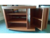 Wooden DVD Table Storage Unit Light Wood Great Condition