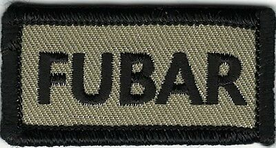 Tan Black Military Fubar F  Ked Up Beyond All Recognition Morale Patch