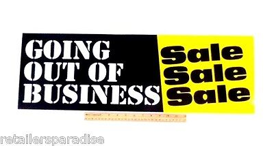 Popular Going Out Of Business Sale 28 Long Store Window And Wall Poster Banner