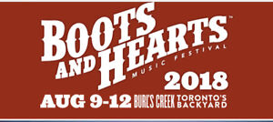 Boots and hearts tent camping