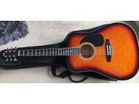 Lorenzo flame guitar