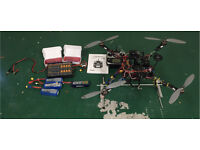 Futaba T14SG controller and complete quad drone including batteries