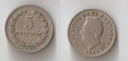 El Salvador 5 centavos 1956