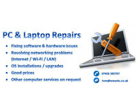 PC & Laptop Repairs / Software & Hardware / On-site or Off-site repairs / Solihull Area