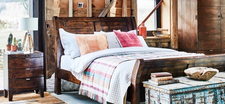 Navajos Barker And Stonehouse Reclaimed Wood Bedroom Furniture Set