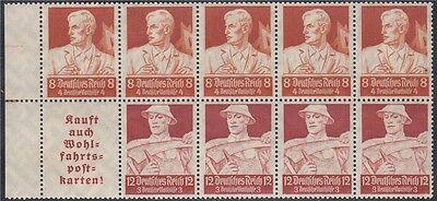 DR 1934 Stände H - Blatt Nr. 102 aus Bogen postfrisch