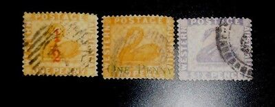 lot 3 early Western Australia State stamp used