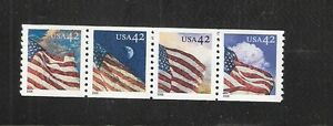 2008-4228-4231-Strip-of-4-42-Flags-24-7-WAG-MNH