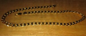 """22"""" 12mm wide 24k Gold Plated Men's Necklace"""