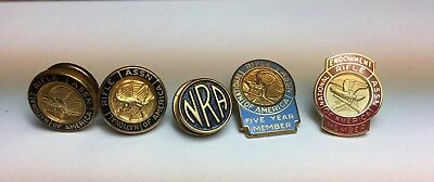 5 NRA pins (4 different styles)