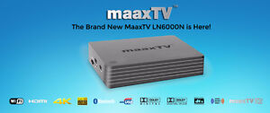 MaaxTV LN6000 Arabic 700+ Live IPTV Android Netflix KODI TV Box. Authorized Dealer and Warranty Center.