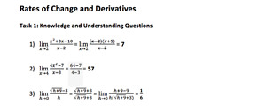 ANSWERS FOR MCV4U-B (CALCULUS) W/ SAMPLES