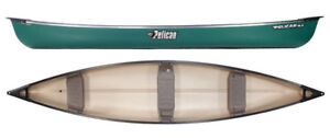 Pelican Sport 15.5 ft Canoe with 3 bench seats in green
