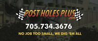 We are the best in the business for deck footings and post holes