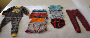 Carters boys pajamas, underwear and long johns, size 4 / 4T