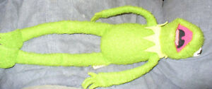 1976 Fisher-Price Kermit the frog plush toy, Miss Piggy beanbag