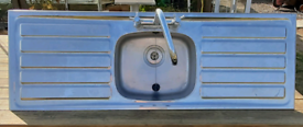 Double drainer kitchen sink with mixer tap