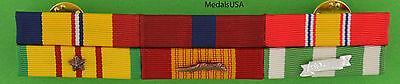 Marine Corps Combat Action, Good Conduct - Vietnam War Mounted 6 Ribbon Bar - Marine Corps Ribbon Mount