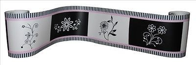 (Wall Border For Black/White/Pink Baby Bedding Set By Sisi)