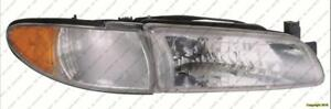 Head Light Passenger Side With Side Marker High Quality PONTIAC GRAND PRIX 1997-2003