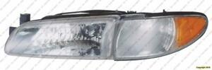 Head Light Driver Side With Side Marker PONTIAC GRAND PRIX 1997-2003