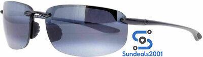 Maui Jim 407-02 Ho'okipa Gloss Black Frame / Grey Polarized Lenses (Maui Jim Hookipa)
