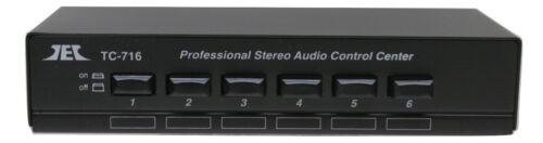 Technolink TC-716  6-Way Stereo Source Selector; BLACK Version