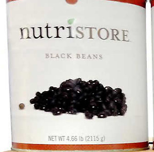 Dry Black Beans (#10 Can) 4.66 lb-- Survival Food