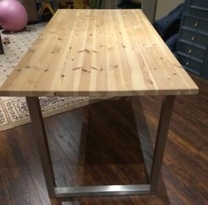 Solid wood table 5' long