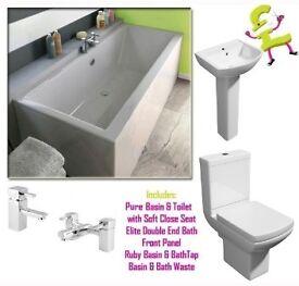 Pure Elite Double Ended Bath Complete Suite
