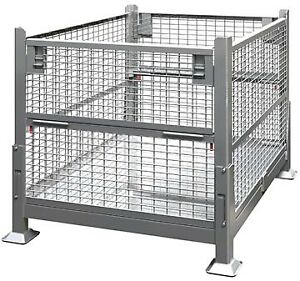 Used MINT CONDITION Mesh Steel Bins