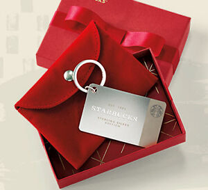 Brand New Limited Edition Sterling Silver Starbucks Gift Card