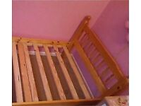 Solid Quality Pine Wood Single Bed Kids Child Teenager Student Bedroom Landlord Rental Lodgings