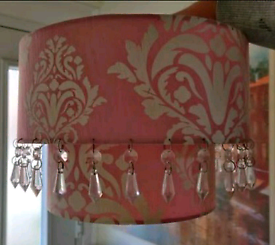 Laura Ashley double damask light shade