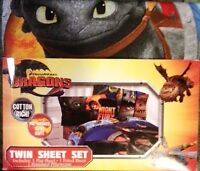 NEW How to Train Your Dragon single sheet set in original packag