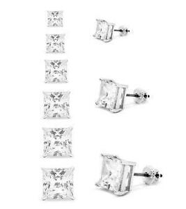 Mens Square Diamond Earrings