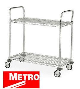"""Metro Wire 2-shelf Utility Cart (18"""" x 36"""")"""