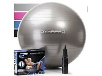 Exercise, Fitness, Yoga, Swiss Ball With Pump Gym Quality - Silver