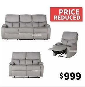 BECKY 3PC MANUAL RECLINING SOFA COMBO