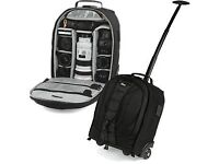"Brand New! LowePro Camera Bag - ""Rolling Computrekker AW"" with tracking shoulder pads."