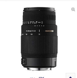 Sigma Camera Lens 70-300mm fits Canon!