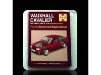 HAYNES CAR SERVICE AND REPAIR MANUAL - VAUXHALL CAVALIER - FOR SALE