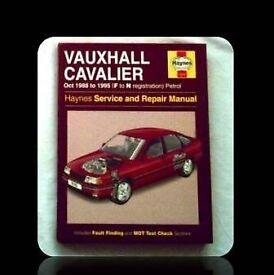 HAYNES CAR SERVICE AND REPAIR MANUAL - VAUXHALL CAVALIER - FOR SALE